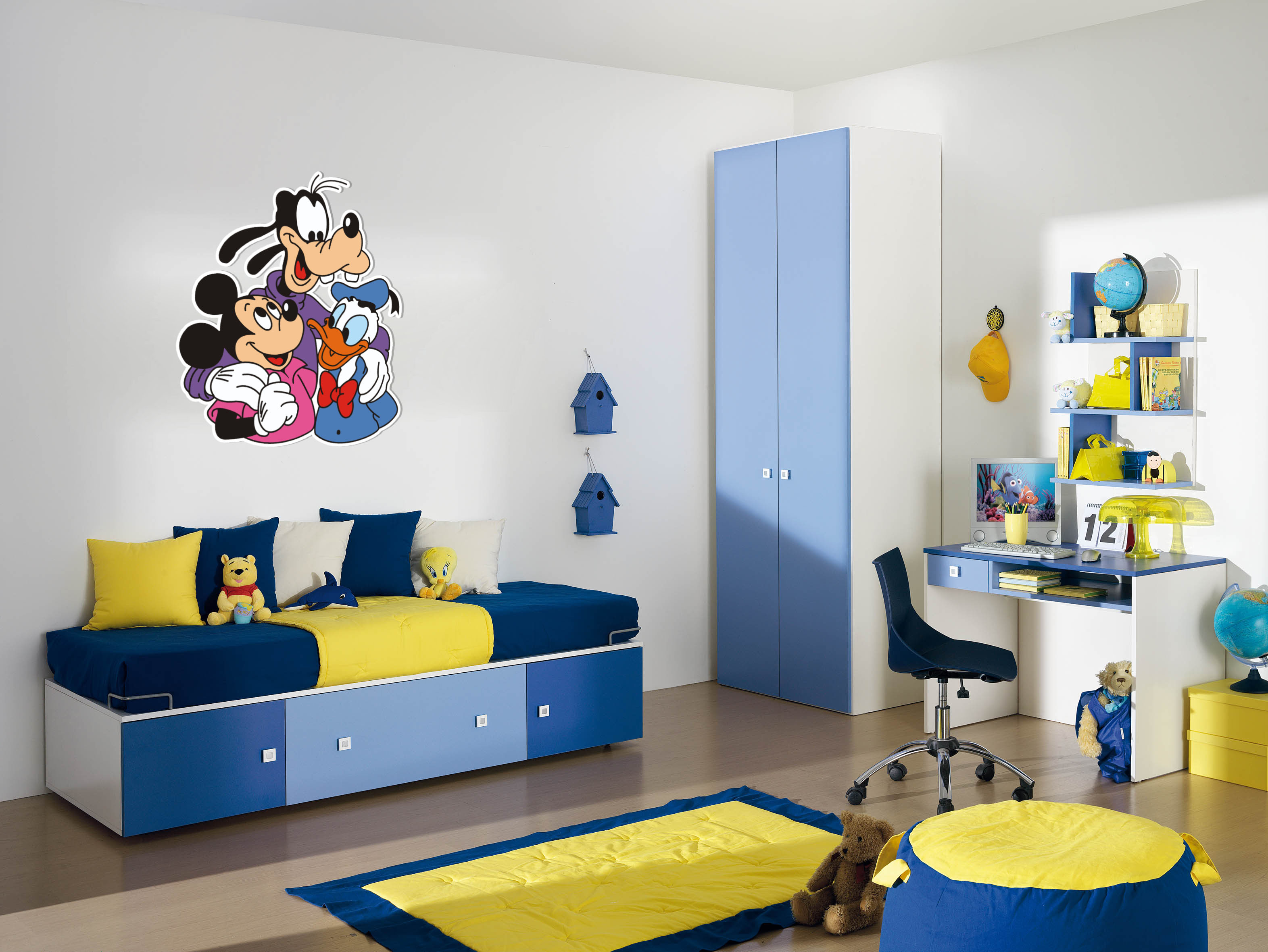 Decorazioni pareti ecco i nuovi pannelli sagomati per camerette dei bambini ludoteche e asili - Adesivi murali per camerette ...