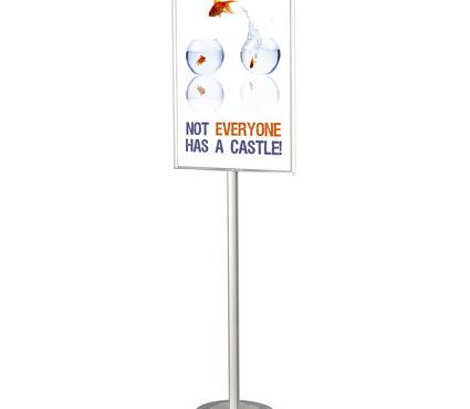 """Espositore Porta Poster Da Terra (Bifacciale) """"Stopinfo""""- 177€ anziché 186€"""